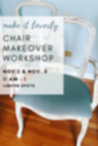 Chair Makeover Workshop