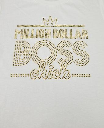 Pre Order - Million Dollar Boss Chick - Bling White/Gold