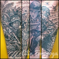 Military Vietnam & D Day Half Sleeve