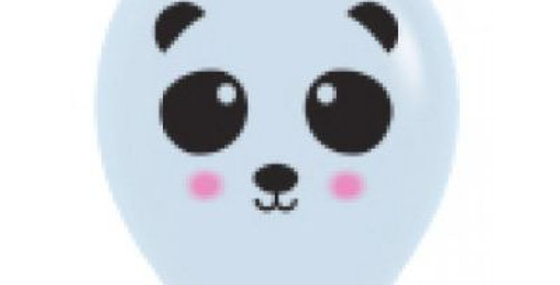 Panda Face Print Helium Balloon 28cm