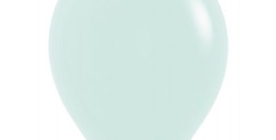 Pastel Matte Green Helium Balloon 30cm each