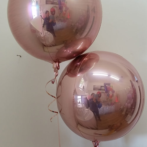 "Rose Gold Orbz Foil Balloon - 16"" - Pkt of 1"
