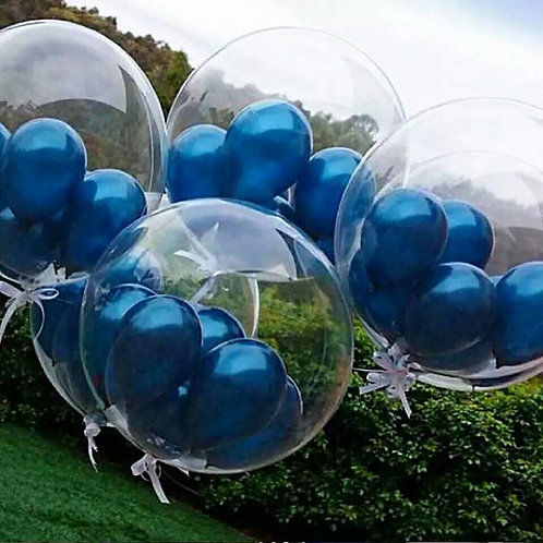 Clear Bubble Balloon with Mini Balloons - inflated + Delivery Charge