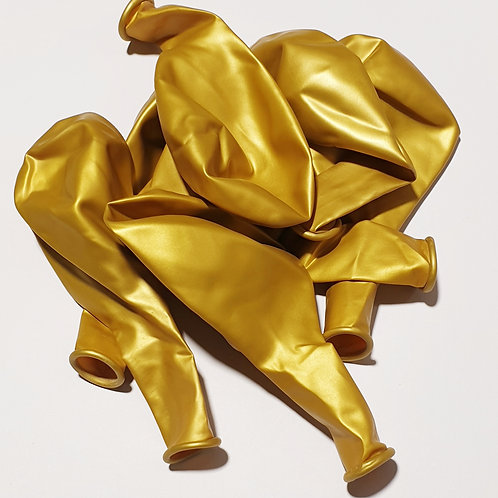 Metallic Gold Balloon - 30cm - each