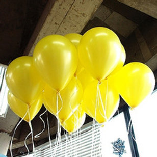 Metallic Yellow 30cm - Pkt of 12
