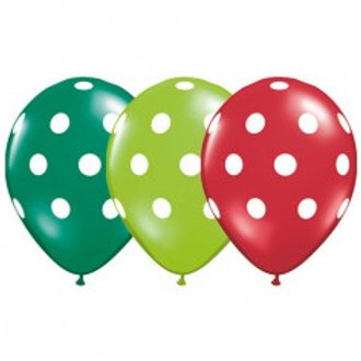 Polka Dot Balloons - Hungry Caterpillar Pkt of 3