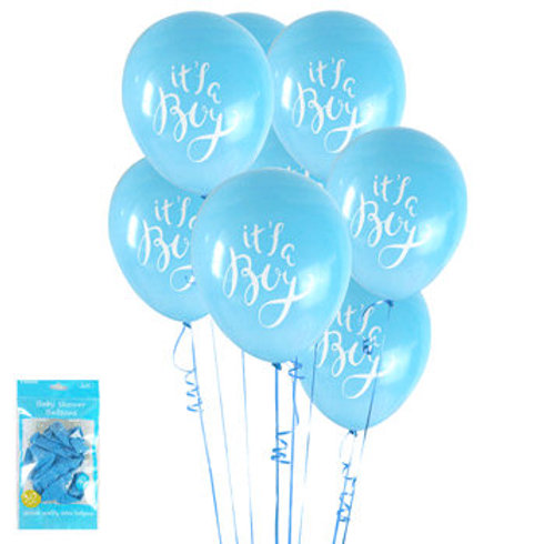 It's a Boy Balloons - Size 30cm, Pkt of 6