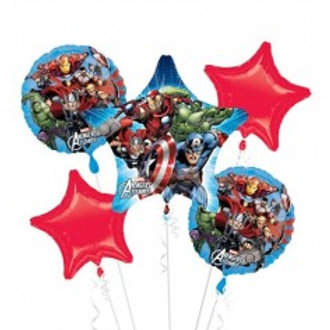 The Avengers Foil Balloon Bouquet - Pkt of 5