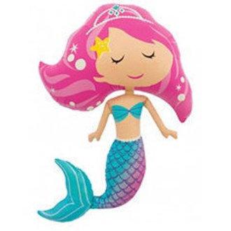 Mermaid Supershape Foil Balloon