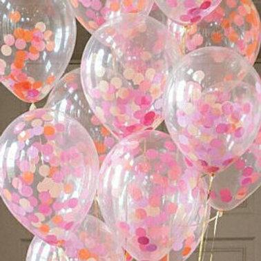 Flamingo Confetti Balloons 30cm