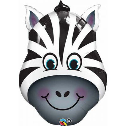 Zebra Head Supershape Balloon