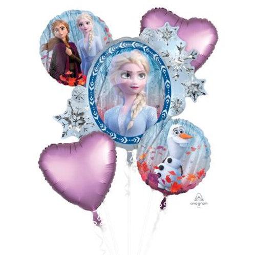 Frozen II Foil Balloon Bouquet - Packet of 5