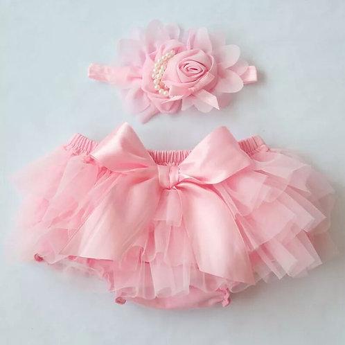 Pink Baby Bloomers & Headband