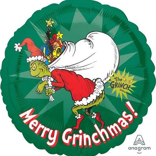 Merry Grinchmas Foil Balloon 18inch
