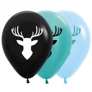 Deer Head Balloon Pkt of 6