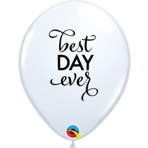 Balloon White Best day ever