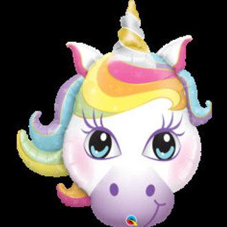 "Unicorn Head Shape Foil Balloon - 38"""
