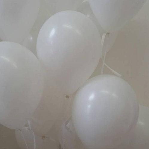 White Balloons,Glossy 30cm - Pkt of 12
