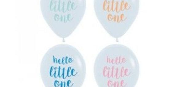 Hello Little One Print Helium Balloon 28cm
