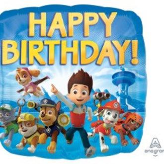 """Paw Patrol Happy Birthday Foil - Size 18"""""""