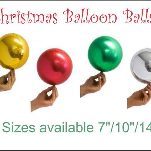 Christmas Balloon Balls - Gold Red Silver Green