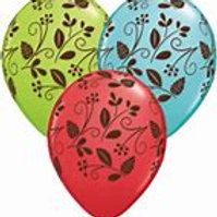Woodlands Foliage Balloons - 30cm - Pkt of 3