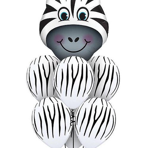 Zebra Foil & Zebra Stripe Balloons - Pkt of 7