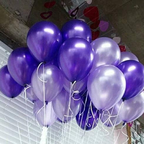 Purple & Lilac Balloons, Metallic & Pearl 30cm - Pkt of 12