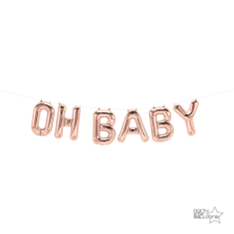 Oh Baby Rose Gold Airfill Letters 16""