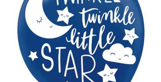 Twinkle Little Star Print Helium Balloon 28cm