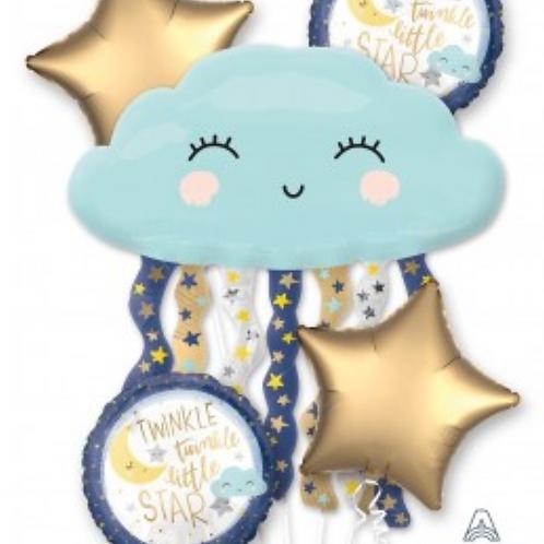 Twinkle Twinkle little star foil balloon bouquet