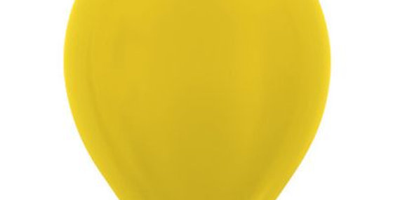 Metallic Yellow Helium Balloon 30cm each