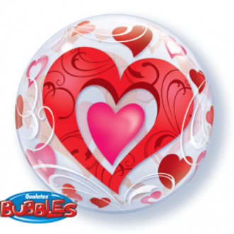 Filligree Hearts Balloon 22""
