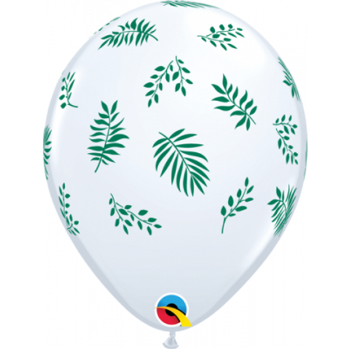 Tropical Greenery Leaf Printed 28cm Balloon