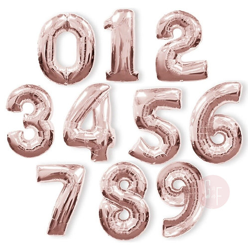 Giant Rose Gold Number Foil Balloon 100cm each