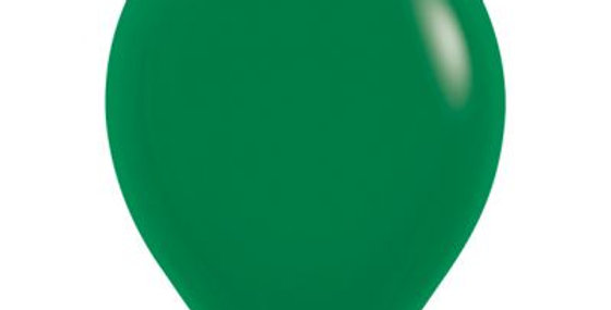 Standard Green Helium Balloon 30cm each