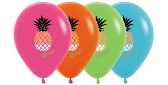 Pineapple Print Helium Balloon 30cm