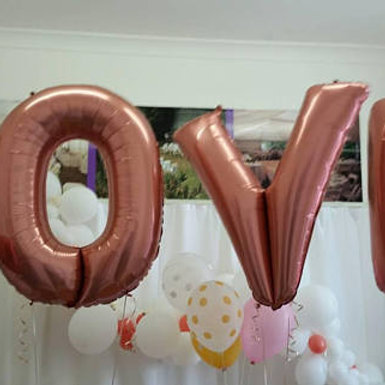LOVE Supershape Foil Letter Balloons