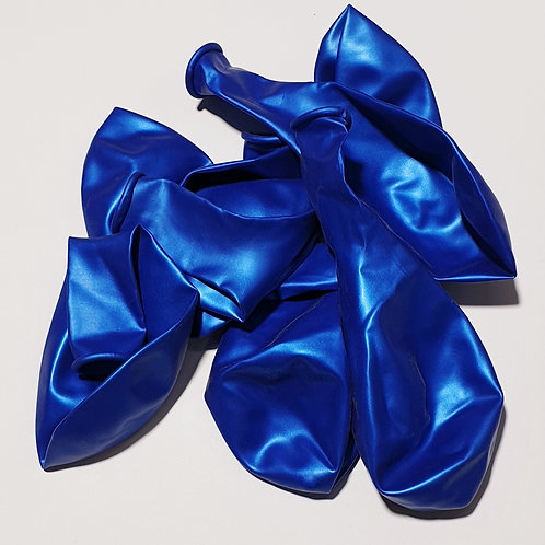 Metallic Blue Balloon - 30cm - each