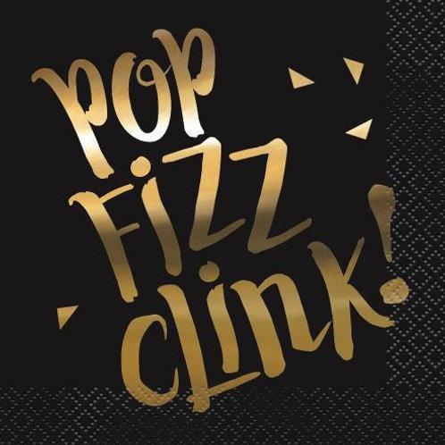 Pop Fizz Clink Cocktail Napkin Pkt 16