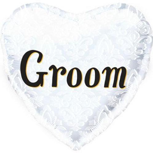 Groom Heart Shape Foil 45cm