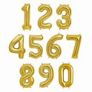 Supershape Gold Number Balloons - each