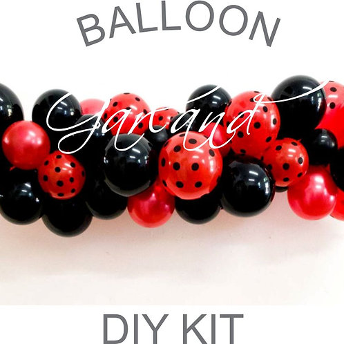 Ladybug Mini Balloon Garland DIY Kit