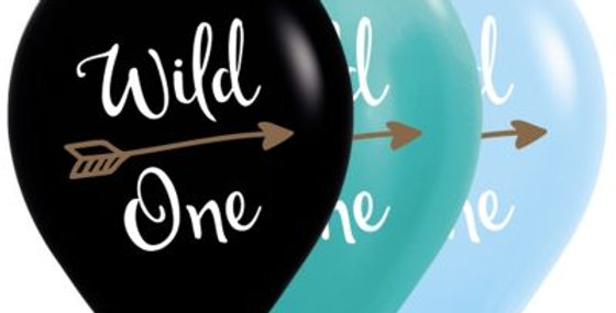 Wild One Print Helium Balloon 30cm