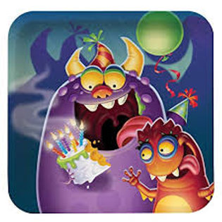 Monster Mania Paper Plate 7inch - Pkt 8