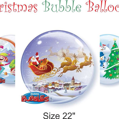 Christmas Bubble Balloon - Assorted Designs available