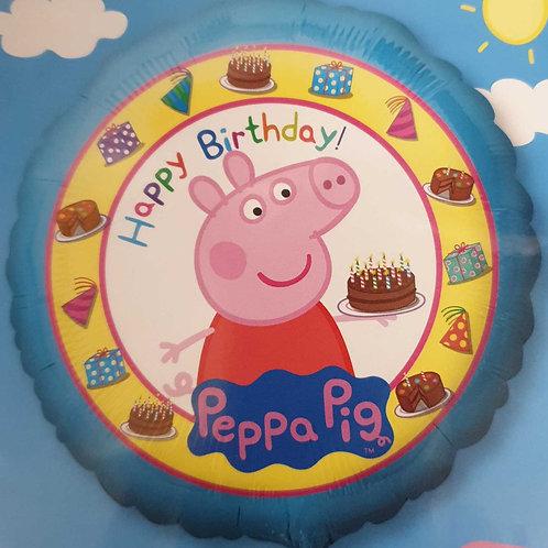 Peppa Pig Birthday 18inch Foil