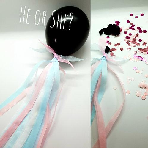 Gender Reveal Mini Pop Balloons DIY kit - Boy or girl!