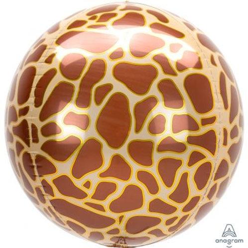 Giraffe Print Orbz Balloon