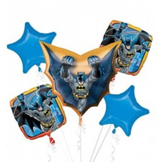 Batman Foil Balloon Bouquet - Pkt of 5